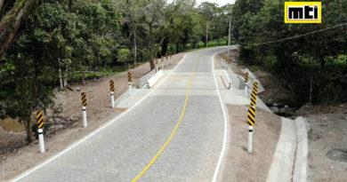 Puente La Gallina de 10 metros de longitud que ha construido el Gobierno Sandinista, en el kilómetro 156.16 del tramo Juigalpa – La Libertad en Chontales