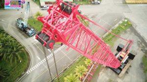 Vista aérea de la nueva grúa adquirida por la EPN en el puerto Arlen Siu