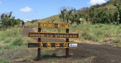 Entrada al sendero San Fernando en el Parque Nacional Volcán Masaya