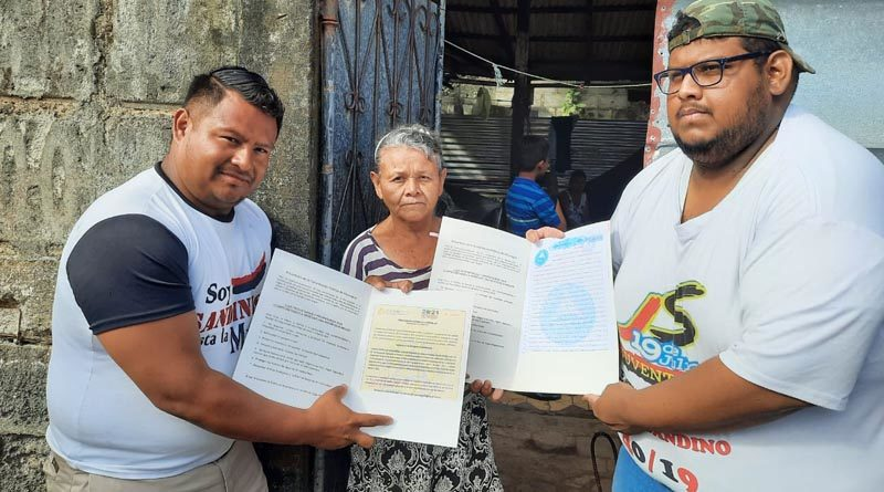Jóvenes de Promotoría Solidaria acompañaron la entrega de títulos de propiedad en Ciudad Sandino