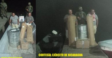 Personas retenidas por el Ejército de Nicaragua en San Juan de Nicaragua