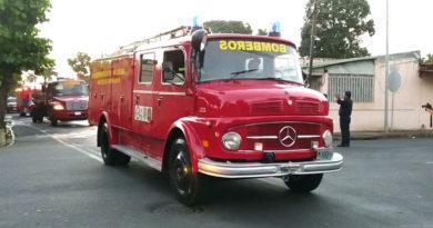 Nuevas unidades bomberiles enviadas a la nueva estación de Bomberos en Boaco