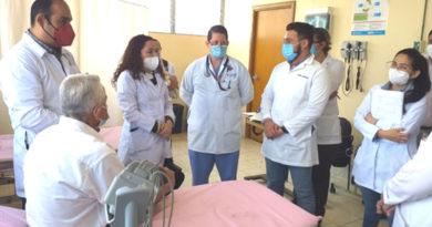 Doctora Sonia Castro durante el recorrido realizado en el Hospital Victoria Motta de Jinotega
