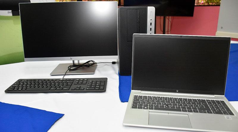 Computadoras donadas al Ministerio de Salud