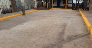 Vista de una calle que se inaugura en el barrio Santos Espinales por la Alcaldía de Managua.