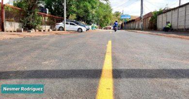 Calle construida por la Alcaldía de Managua en el barrio Los Arcos del distrito II