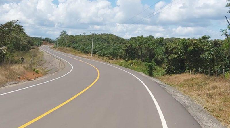 Carretera que será inaugurada en Zelaya Central