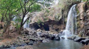 Se observan las cascadas El Corozo que se ubican en Juigalpa, Chontales