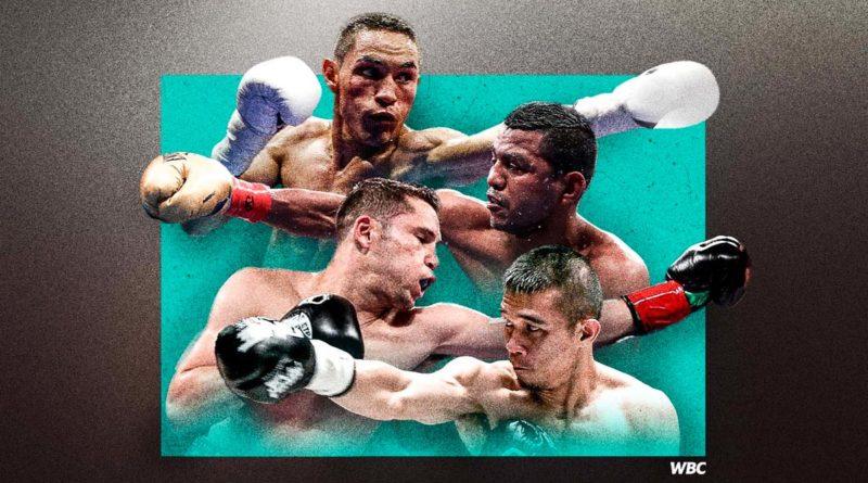 Arte promocional del Consejo Mundial de Boxeo (CMB), sobre el Torneo Supermosca donde incluirá la tercera revancha Estrada vs Chocolatito 3 y Cuadra vs Rungvisai 2.