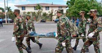 Participación del Ejército de Nicaragua durante el primer ejercicio de protección de la vida