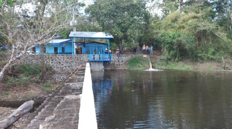 Rehabilitación Captación Río Quipor realizado por ENACAL en Santo Tomás, Chontales