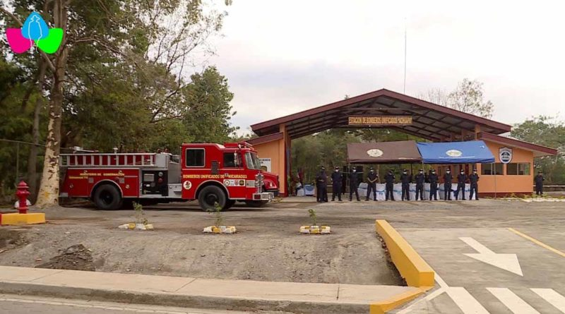 Estación básica de bomberos en Nicaragua