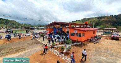 Vista aérea de la nueva estación de bomberos en San Rafael del Norte, Jinotega