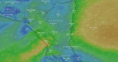 Imagen satelital sobre el mal tiempo que podría afectar a Nicaragua