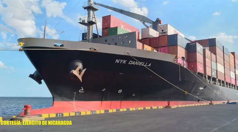 Buques mercantes en puertos de Nicaragua