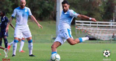 Partido entre la selección de fútbol de Nicaragua