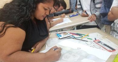 Estudiantes del Tecnológico Simón Bolívar realizaron dibujos del Comandante Hugo Chávez