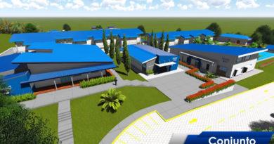 Maqueta del proyecto a construirse en Jinotega
