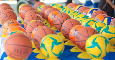 Material deportivo entregado a los centros de educación especial