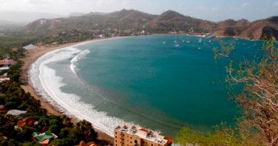 Vista aérea de la bahía de San Juan del Sur