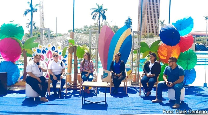 Conferencia de prensa sobre el lanzamiento de las pasarelas Nicaragua Fuerza Bendita, Verano de Amor 2021