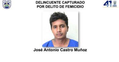 Delincuente capturado por delito de femicidio