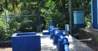 Tubería del nuevo pozo de agua que será inaugurado en Muelle de los Bueyes