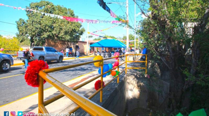 Puente vehicular en el barrio San Judas en Managua. Inaugurado este lunes por la Alcaldía de Managua.