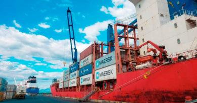 Contenedores con mercadería exportada en el Puerto de Corinto en Chinandega, Nicaragua