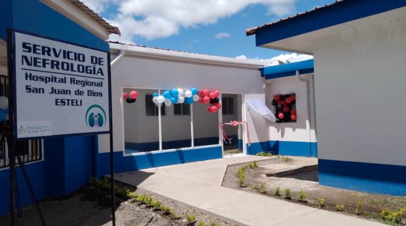Entrada a la nueva sala de hemodiálisis inaugurada en el Hospital San Juan de Dios en Estelí