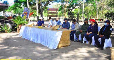 Acto de inauguración del vivero en San Juan de Limay