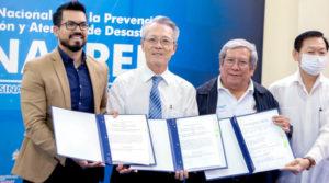 Autoridades de SINAPRED y la Embajada de Taiwán en Nicaragua, tras la firma de ejecución del proyecto