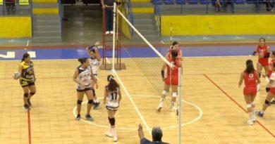 Partido de las semifinales de voleibol nacional
