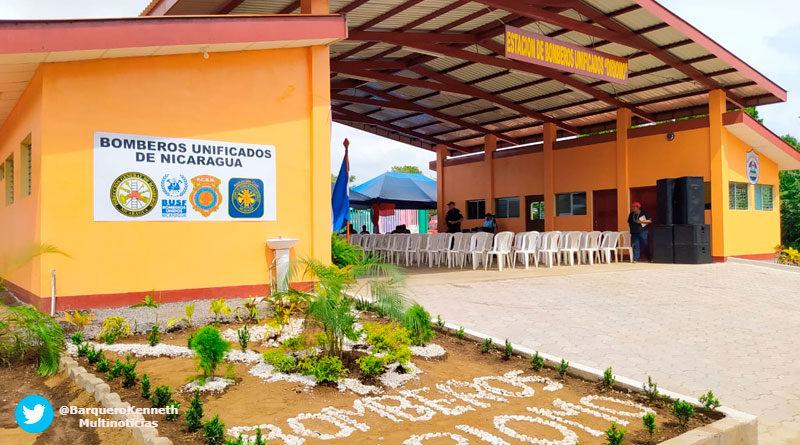 Estación básica de bomberos en el municipio de Diriomo, departamento de Granada
