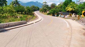 Vista de la carretera inaugurada por el Ministerio de Transporte e Infraestructura entre Río Blanco y Paiwas