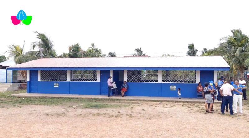 Aulas del Centro Escolar Los Amiguitos en Bilwi rehabilitado por el Ministerio de Educación de Nicaragua.