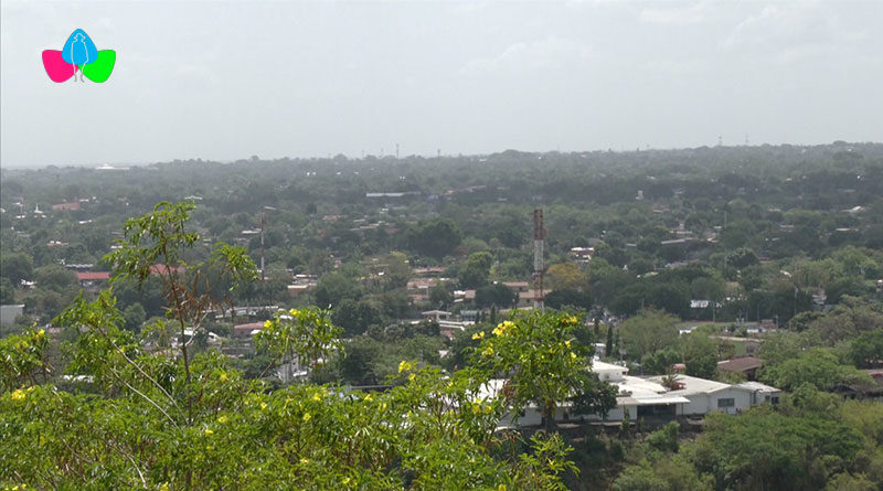 Panorámica de Managua, Nicaragua con un clima soleado, 29 de abril.