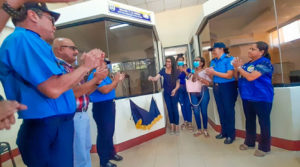 Autoridades de la Policía de Nicaragua, Ministra de la Mujer y alcalde de San Pedro del Norte en inauguración de la nueva Comisaría de la Mujer