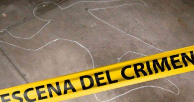 Cinta amarilla de la Policía Nacional de Nicaragua, de la escena del crimen en Río San Juan