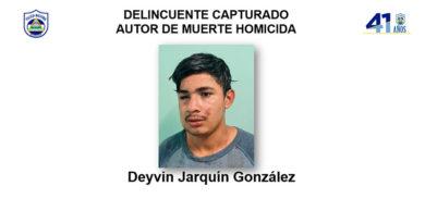 Delincuente capturado Deyvin Jarquín González, autor de muerte homicida en perjuicio de Walter José Castillo González (Q.E.P.D.) en el municipio de San Ramón, departamento de Matagalpa.