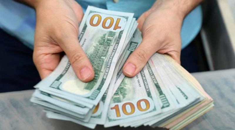 Billetes de 100 dólares en las manos de una persona contándolos