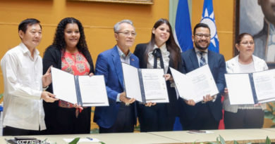 Firma del convenio entre el gobierno de Nicaragua y la Embajada de Taiwán