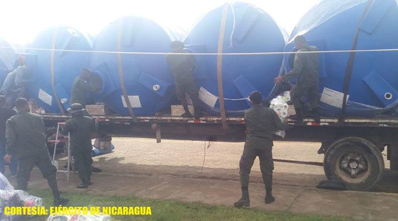 """El Batallón Ecológico """"BOSAWAS"""" descargó 600 paquetes de higiene personal, en bodega del Hospital Primario Prinzu Pawanka de Prinzapolka."""