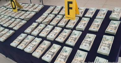 Dinero incautado por la Policía Nacional de Nicaragua al crimen organizado y al narcotráfico internacional