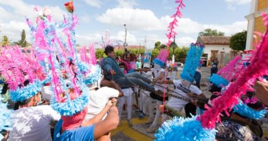 Recorrido de los Judíos, en conmemoración de la pasión, muerte y resurrección de Jesucristo en la ciudad de Masatepe.