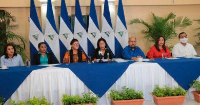 Comisión Especial de Carácter Constitucional para Asuntos Electorales de la Asamblea Nacional presentando informe de avance del proceso de consultas a la Ley Electoral de Nicaragua.
