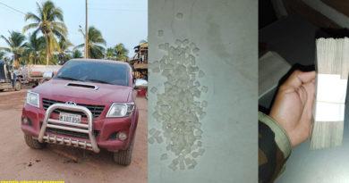 Droga, camioneta y dinero incautado por el Ejército de Nicaragua a los delincuentes