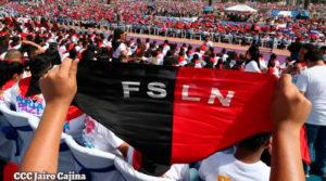 Cientos de miles de nicaragüenses congregados en la plaza Juan Pablo II en el acto del 19 de Julio