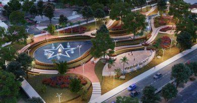 Vista aérea del Parque Monumento Bicentenario de Centroámerica en Managua