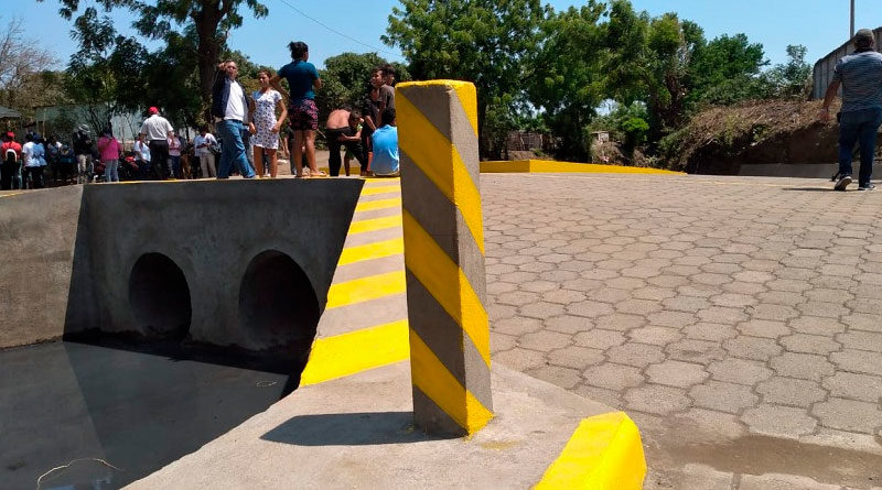 Puente inaugurado por la Alcaldía de Ciudad Sandino en las comunidades Valle Santa Rosa - San Andrés de la Palanca